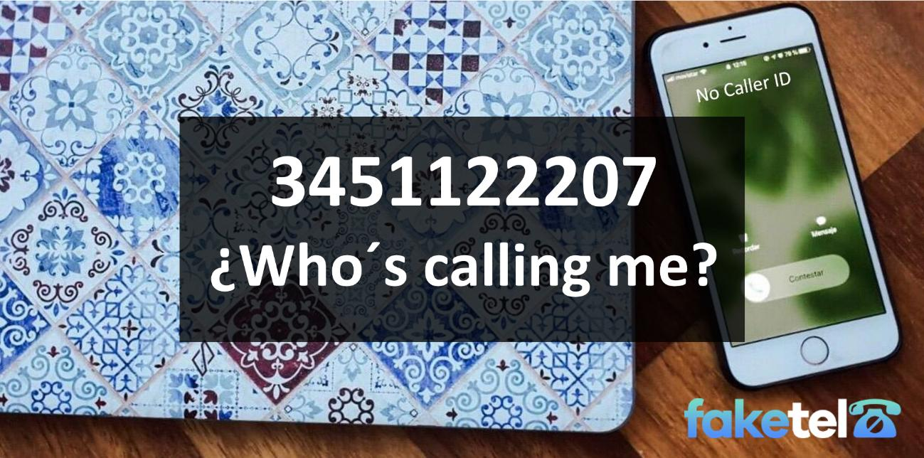 who is calling me 3451122207